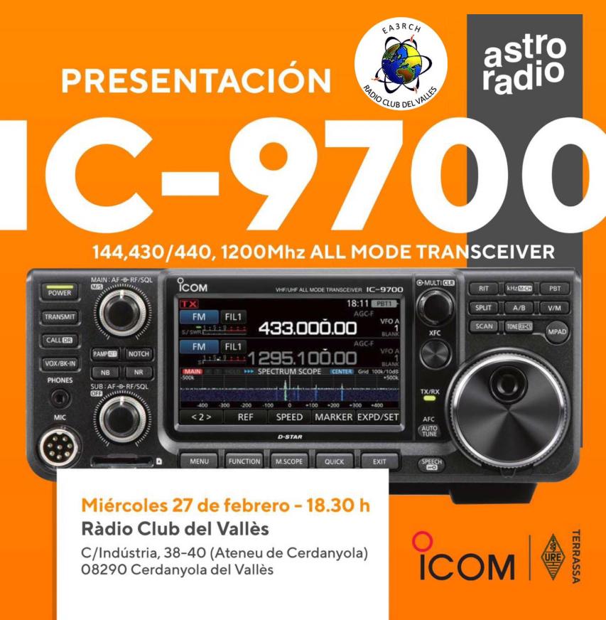 Presentación del IC 9700 en Cerdanyola del Vallès - Ràdio
